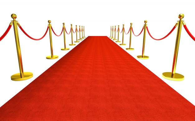 Czerwony dywan tło