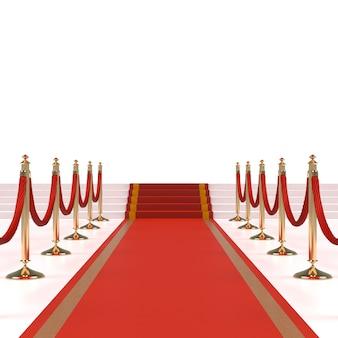 Czerwony dywan z czerwonymi linami