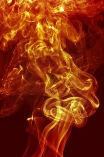 Czerwony efekt dymu