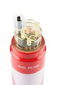 Czerwony filtr paliwa