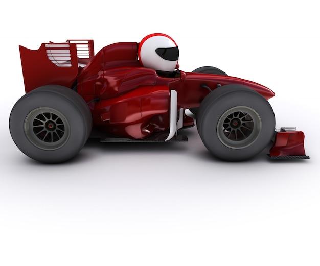 Czerwony formuła jeden samochód