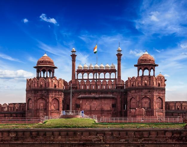 Czerwony fort lal qila. delhi, indie