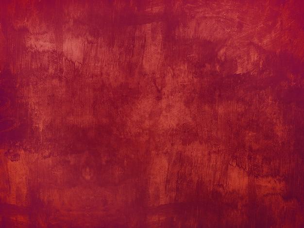 Czerwony grunge tekstury tło malująca ściana