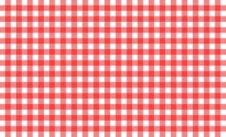 Czerwony i biały obrus, wzór