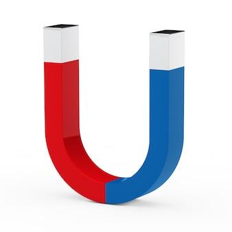 Czerwony i niebieski magnes
