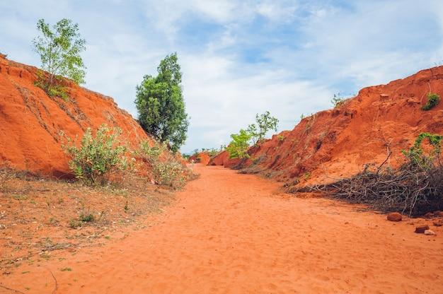 Czerwony kanion w pobliżu mui ne w południowym wietnamie