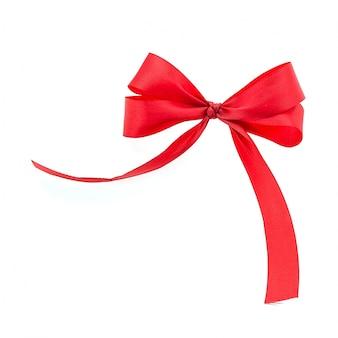 Czerwony krawat na białym tle