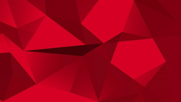 Czerwony low poly streszczenie tło, geometryczny kształt trójkątów. elegancki i luksusowy dynamiczny styl dla biznesu, ilustracja 3d