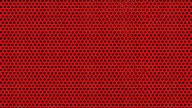 Czerwony metak lub tło siatki ze stali