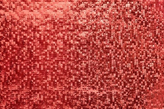 Czerwony metaliczny kwadratowy tło 3d