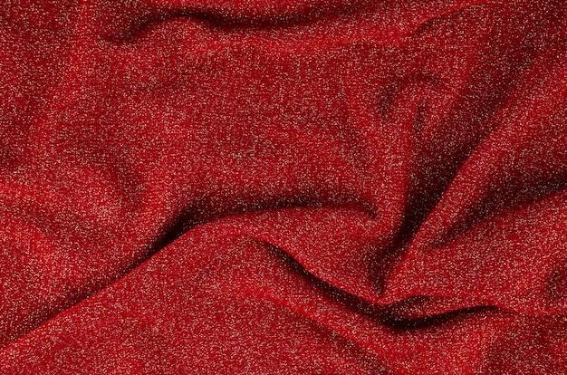 Czerwony miękki tekstura materiału tło