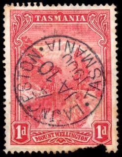 Czerwony mount wellington znaczek