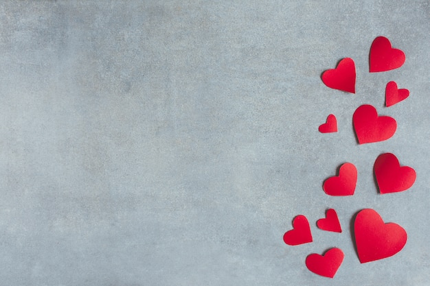 Czerwony papier symboli serca