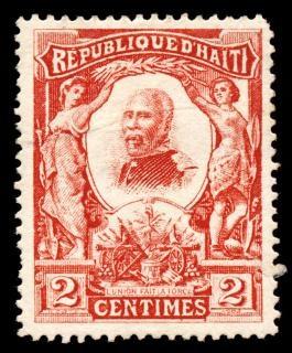 Czerwony pierre nord alexis znaczek