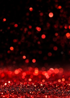 Czerwony połyskujący brokat