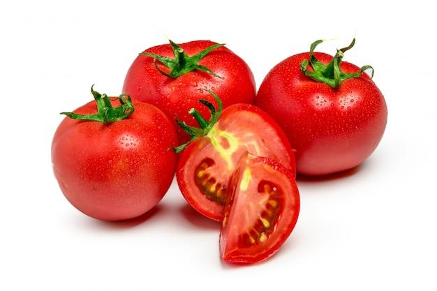 Czerwony pomidorowy warzywo z cięciem odizolowywającym