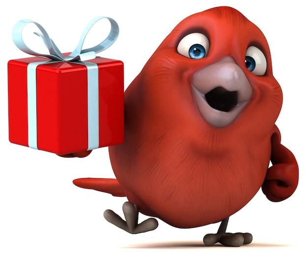 Czerwony ptak