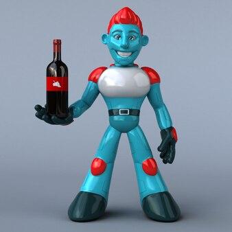 Czerwony robot - 3d ilustracja