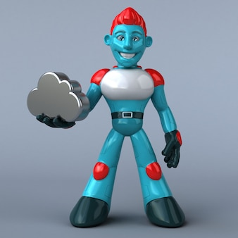 Czerwony robot 3d ilustracja