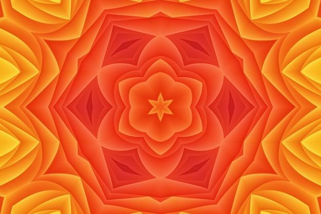 Czerwony, różowy, żółty kolor abstrakcyjny kwiat. jasny wzór kolorów zakrzywionych kształtów