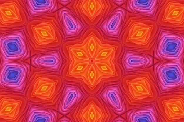 Czerwony różowy żółty kolor streszczenie tło kwiat. jasny wzór kolorów tapety 3d delikatne zakrzywione kształty