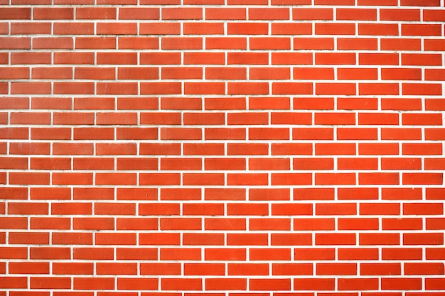 Czerwony ściana z cegieł tekstury tła materiał przemysłu budynku budowa.