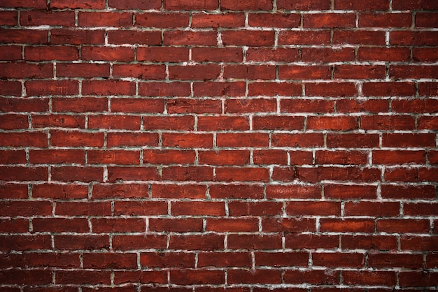 Czerwony ściana z cegieł textured tło