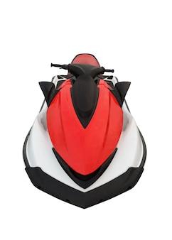 Czerwony skuter wodny na białym tle