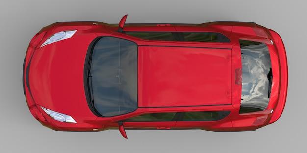 Czerwony, subkompaktowy crossover suv