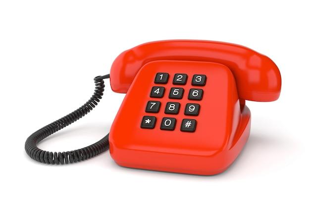 Czerwony telefon retro