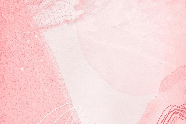 Czerwony wzór tła w stylu akwareli