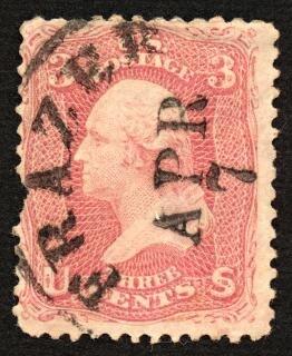 Czerwony znaczek george washington