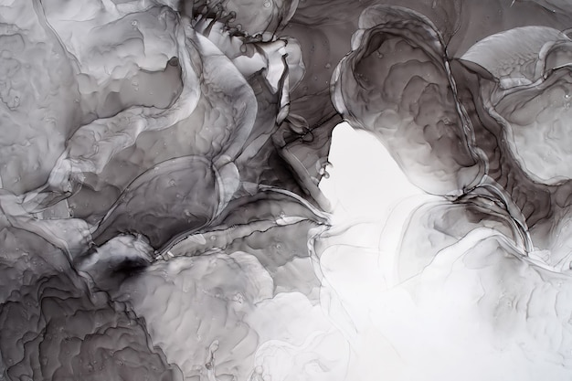Część oryginalnego malowania tuszem alkoholowym, abstrakcyjne tło