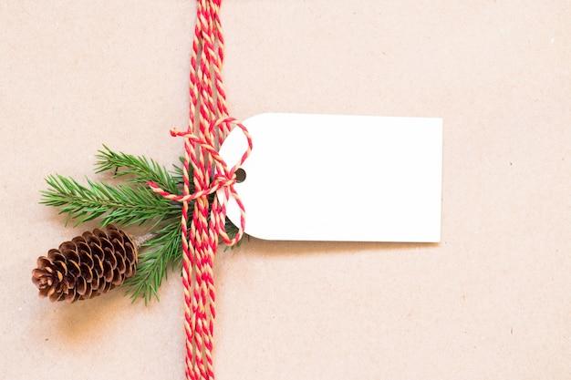 Część świątecznego prezentu i etykiety
