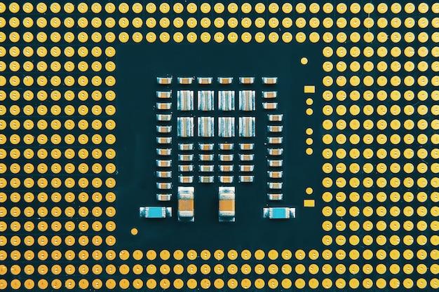 Czip komputerowy. koncepcja procesorów centralnych procesorów komputerowych.