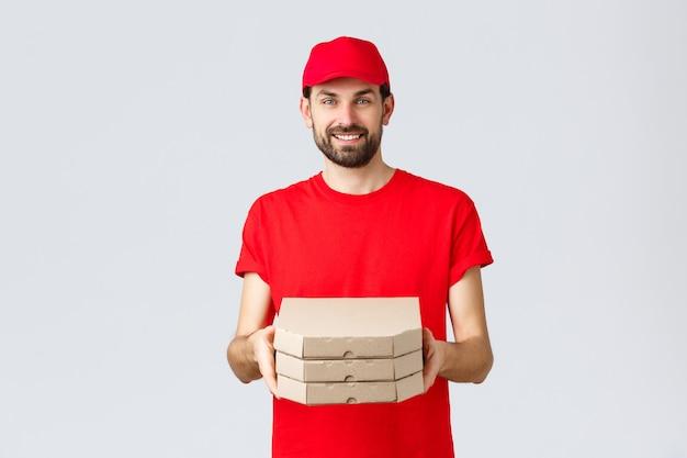Człowiek dostawy żywności