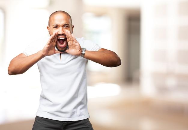 Człowiek krzyki