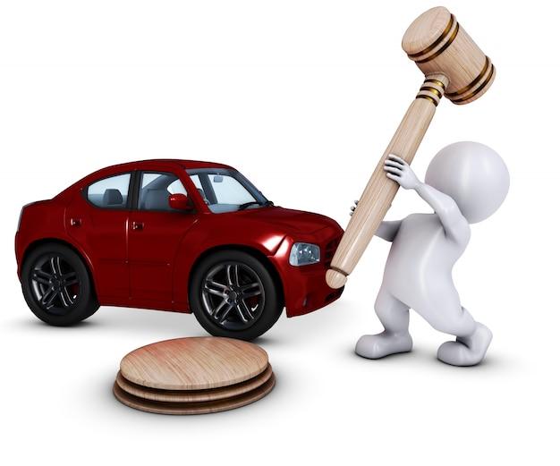 Człowiek o sprzedaży samochodu