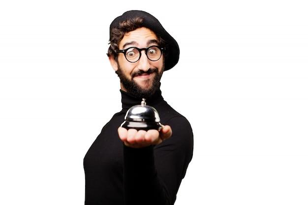 Człowiek posiadający hotel bell