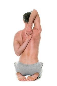 Człowiek robi joga