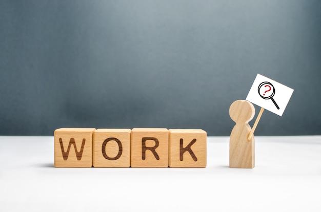 Człowiek w poszukiwaniu pracy lub pracy na pół etatu