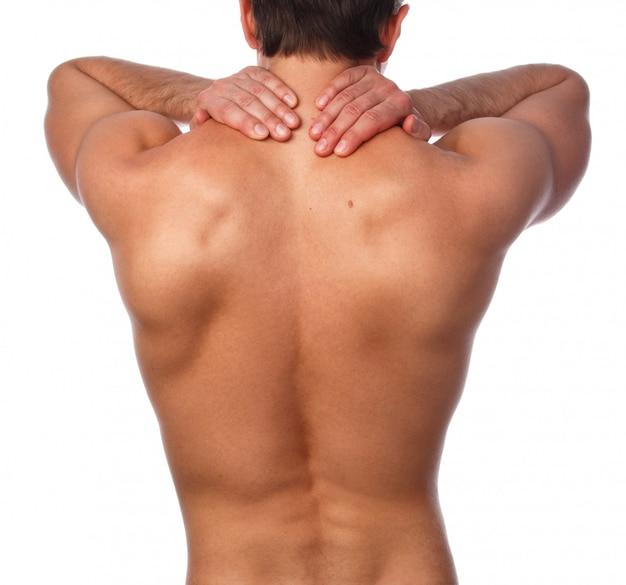 Człowiek z bólem w plecach