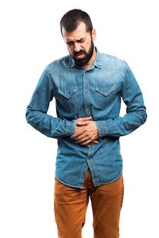 Człowiek z bólem żołądka