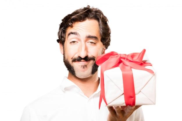 Człowiek z darem w ręce