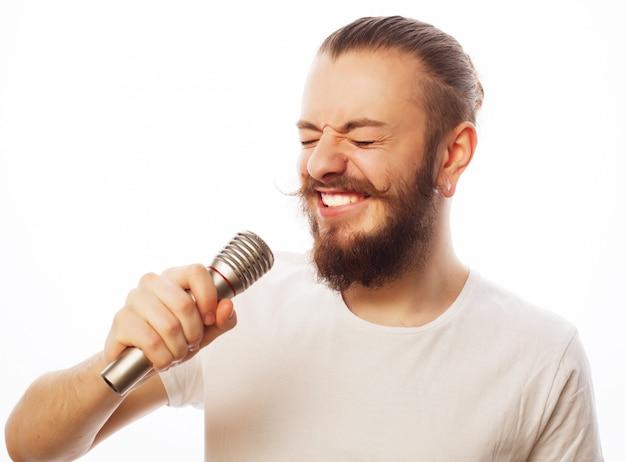 Człowiek z mikrofonem