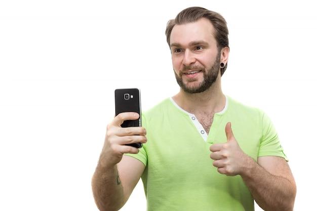 Człowiek z telefonem