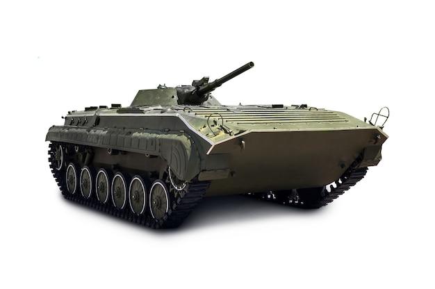 Czołg lekki rosyjskiej piechoty bmp-2 ze ścieżką przycinającą na białym tle