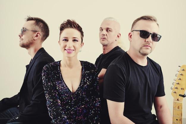 Czteroosobowy zespół muzyczny