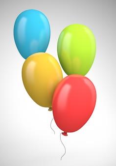 Cztery kolorowe balony