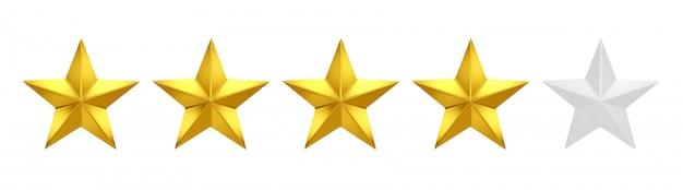 Cztery na pięć gwiazdek